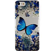 Для яблока iphone 7 7 плюс 6s 6 плюс se 5s 5 крышка корпуса бабочка падение клей лак высокое качество тпу материал чехол для телефона