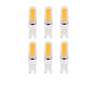 6pcs Dimmable BRELONG 3W COB LED Lights G9 G4 E14 White / Warm White  Bulb AC220-240V