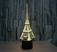 Tower 3 d Lamp Creative Visual Stereo Lamp The  Touch Lamps  Projection Lamp