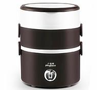 Три слоя мини рисоварка приготовления нержавеющей стали электрическое отопление обед коробка