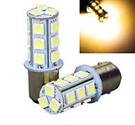 2Pcs 1157 18*5050SMD LED Car Light Bulb Warm Light DC12V