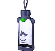 350ml Karikatur tragbare Glas Wasser Saft Flasche