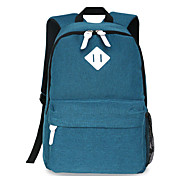 18 inch Computer Backpack Korean Style Shoulder Bag Waterproof Pure Color Unisex