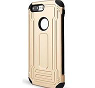 Для яблочного iphone 7 7 плюс 6s 6 плюс se 5s 5 4s покрывают случай новый корпус брони pc tpu combos падение случай телефона царапины