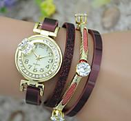 Women's Fashion Watch Bracelet Watch Quartz Colorful Leather Band Bangle