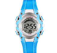 Men's Fashion Watch Digital PU Band Blue