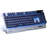 La tastiera di gioco della tastiera di linguaggio della tastiera di linguaggio della tastiera con la tastiera di gioco di 7 colori con le
