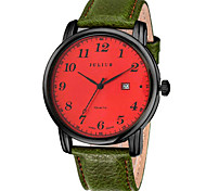 Men's Fashion Watch Japanese Quartz Calendar Water Resistant / Water Proof Leather Band Casual Black Brown Green