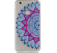 Para huawei p8 lite (2017) p9 lite telefone capa tpu material metade flor padrão relevo telefone caso p8 lite