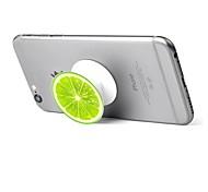 1 pc Phone Stand Holder Green Lemon  Pattern Plastic Telescopic Support 360 Rotating for Mobile Phone