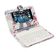 Для чехлов с подставкой с клавиатурой флип-паттерн полный чехол для корпуса eiffel tower hard pu leather для универсального iphone 7 7