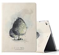 Для ipad ipad (2017) ipad air 2 ipad крышка корпуса с подставкой флип-паттерн полный корпус корпус дерево твердая кожа pu
