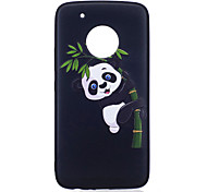 For Moto G5 Plus G5  Case Cover Panda Pattern Painted Embossed Feel TPU Soft Case Phone Case
