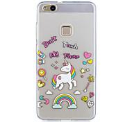 Para huawei p10 lite p10 caso cubierta unicornio patrón pintado de alta penetración tpu material imd proceso suave caso teléfono caso