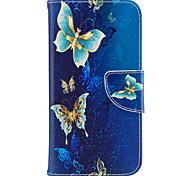Для samsung galaxy j3 j3 (2016) case cover бабочка узор pu материал карта stent кошелек телефон случай галактика j7 j5 j3