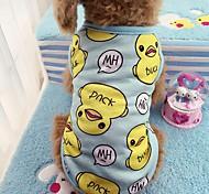 Кошка Собака Футболка Жилет Одежда для собак На каждый день Животные Синий Розовый