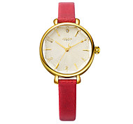 Women's Fashion Watch Japanese Quartz Water Resistant / Water Proof Leather Band Black White Blue Brown Yellow