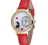 Women's Fashion Watch Japanese Quartz Water Resistant / Water Proof Leather Band Red Green Pink