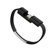 Cwxua USB 3.1 Type-C Data Charging Wrist Bracelet Style Cables for USB 3.1 Type-C Phones and Tablet