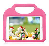Pour apple ipad mini 4 3/2/1 étanche aux chocs avec support housse de protection arrière pour enfant silicone de couleur unie