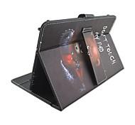 Назначение Чехлы панели со стендом с клавиатурой Флип С узором Чехол Кейс для Слова / выражения 3D в мультяшном стиле Твердый