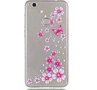Para huawei p8 lite (2017) p9 lite telefone caso tpu material borboleta flores padrão relevo telefone caso p8 lite