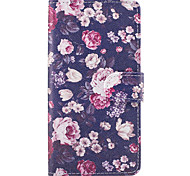 Case For Samsung Galaxy Grand Prime On7(2016) Case Cover The Flowers Pattern PU Leather Cases for On5(2016)