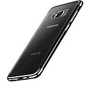 Назначение Чехлы панели Покрытие Задняя крышка Кейс для Сплошной цвет Мягкий Термопластик для Samsung S8 S8 Plus