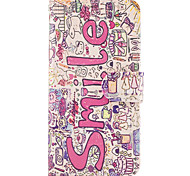 Case For Samsung Galaxy Grand Prime On7(2016) Case Cover The Smile English Pattern PU Leather Cases for On5(2016)
