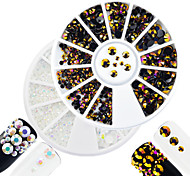 2pcs/set Fashion White&Purple Gold Mixed Size Shining Resin Jelly Rhinestone Decoration Nail Art DIY Beauty Glitter Shining Rhinestone