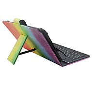 Назначение Чехлы панели со стендом с клавиатурой Флип С узором Чехол Кейс для Полосы / волосы Твердый Искусственная кожа дляApple Samsung