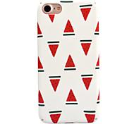 Для яблока iphone 7 7 плюс 6s 6 плюс чехол крышка арбуз узор деколь уход за кожей touch pc материал телефон чехол