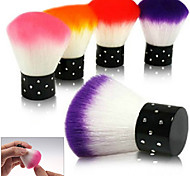 New Colorful Nail tools Brush For Acrylic & UV Gel Nail Art Dust Cleaner Random Color