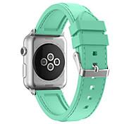 Para relógio de maçã relógio de silicone pulseira relógio faixa cor linha de carro linha pulseira