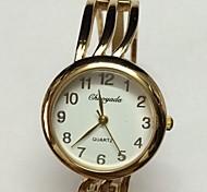 Women's Ladies' Skeleton Watch Fashion Watch Wrist watch Quartz Alloy Band Sparkle Bangle Gold