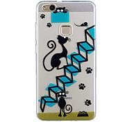 Para huawei p10 lite p10 caso cubierta escaleras gato patrón pintado de alta penetración tpu material imd proceso suave caso teléfono caso