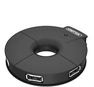 Unitek jd20b8bbk negro usb 2.0 de alta velocidad 4 puerto hub indicador de luz con 120 cm
