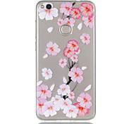 Para huawei p8 lite (2017) p9 lite telefone capa tpu material pêssego flor padrão relevo telefone caso p8 lite