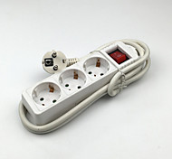 LJ-083 Power Strip 4 Outlets  Switch 16A with 150CM Cable EU Pulg