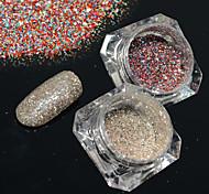 2bottles/set 0.2g/bottle Fashion Shining Decoration Gorgeous Nail Art Platinum Glitter Power Galaxy Starry Effect DIY Design BG15&18