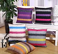 1 Pcs Striped Velveteen Pillow Cover Fashion Simple Pillow Case