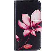 Для huawei p10 p9 lite кейс крышка цветок рисунок pu материал карта stent кошелек телефон случай галактика 6x y5ii p8 lite (2017)