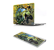 For MacBook Air 11 13 Pro Retina 13 15 Macbook 12 Case Cover PVC Material Oil Painting 3D Cartoon Dinosaur with US Silicone Keyboard Protector