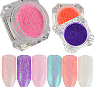 0.2g/bottle New Fashion Beautiful Shining Candy Color Nail Art DIY Beauty Glitter Sugar Coating Powder Mermaid Design Sparkling Decoration TY21-29
