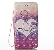 Для iphone 7 плюс 7 3d эффект тип любви тип pu материал кошелек раздел телефон случай 6 плюс 6s 5 se