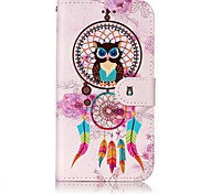 Für samsung galaxy a3 (2017) a5 (2017) case cover card holder wallet embossed pattern full body case Traumfänger hartes PU-Leder