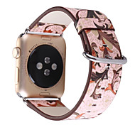 Ombre flowers Pattern Leather Strap Bracelet Watch Band Watchband For Apple Watch 1 2