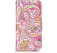 For Apple iPhone 7 7 Plus 6S 6 Plus SE 5S 5 Case Cover Pepper Flowers Pattern Shine Relief PU Material Card Stent Wallet Phone Case