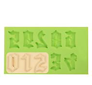 силиконовая форма плесень плесень для шоколада фимо глины цвет случайный