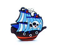 Key Chain Ship Blue Rubber